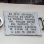 Placa reunión Estado Mayor