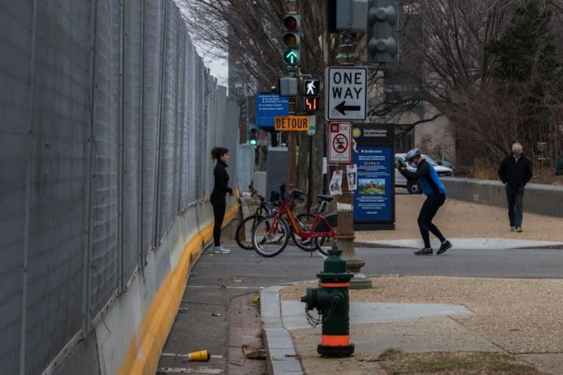 El muro de Trump no está en México: rodea a Washington DC