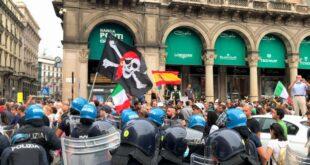 El fascismo resurge en Italia de la mano de losantivacunas
